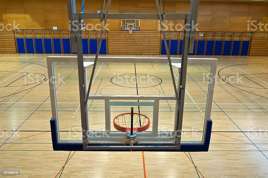 Basketball Backboards from Above royalty-free stock photo