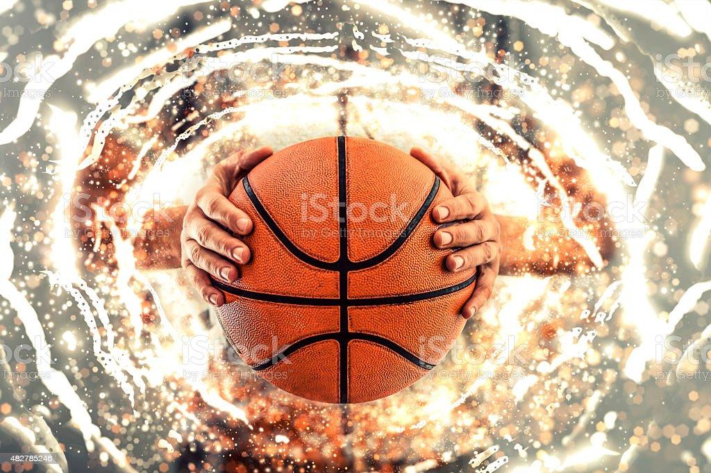 Basketball background. stock photo