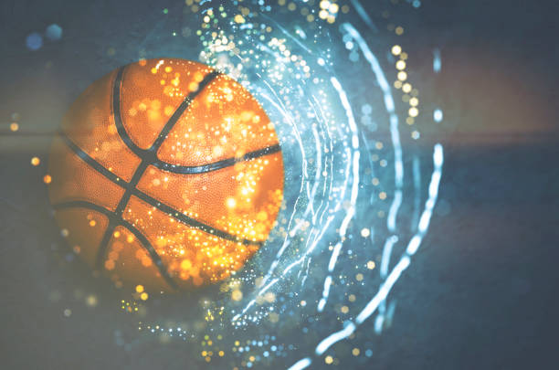 basketball background - basketball ball stock photos and pictures