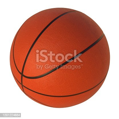 basketball, ball, isolated, white background, 3d rendering