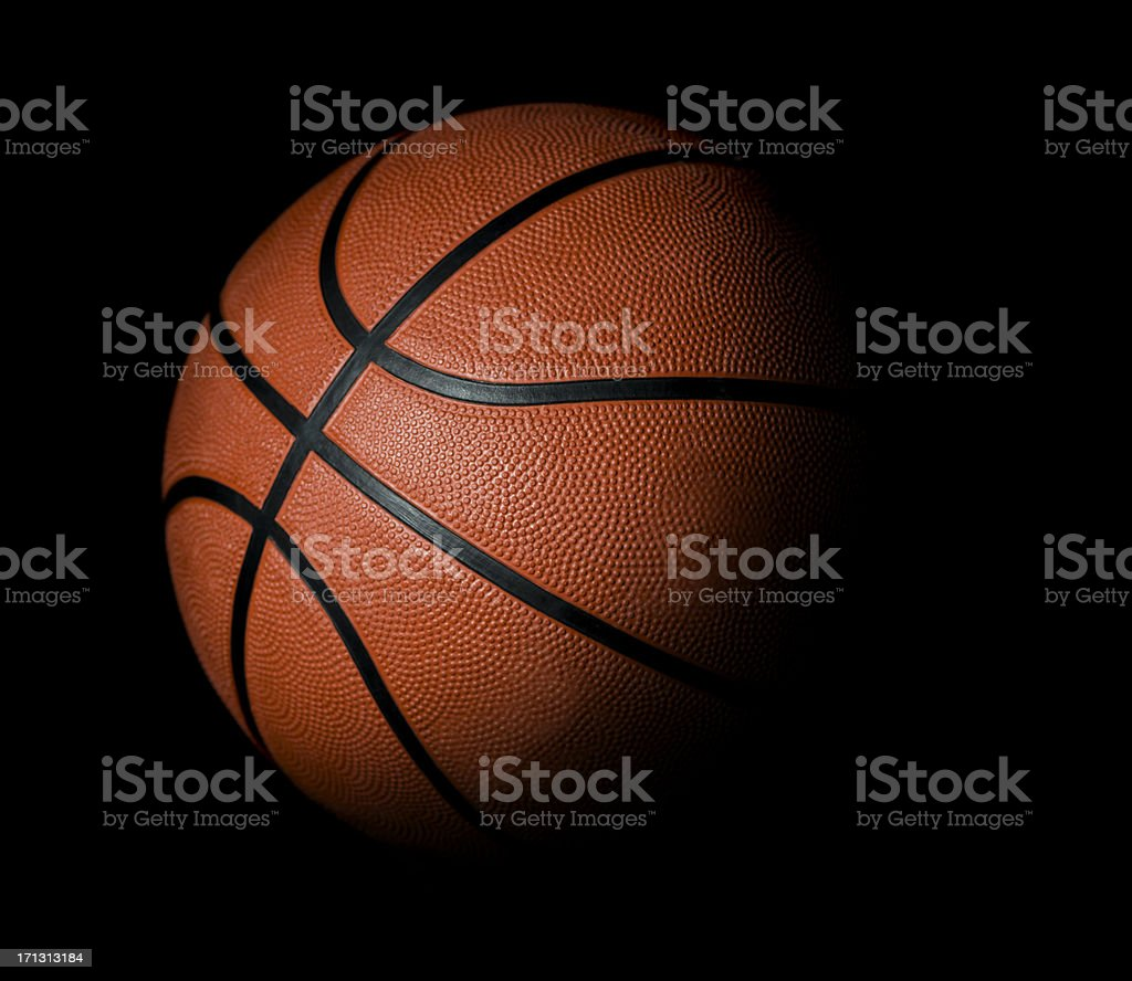 Basketball ball black background royalty-free stock photo