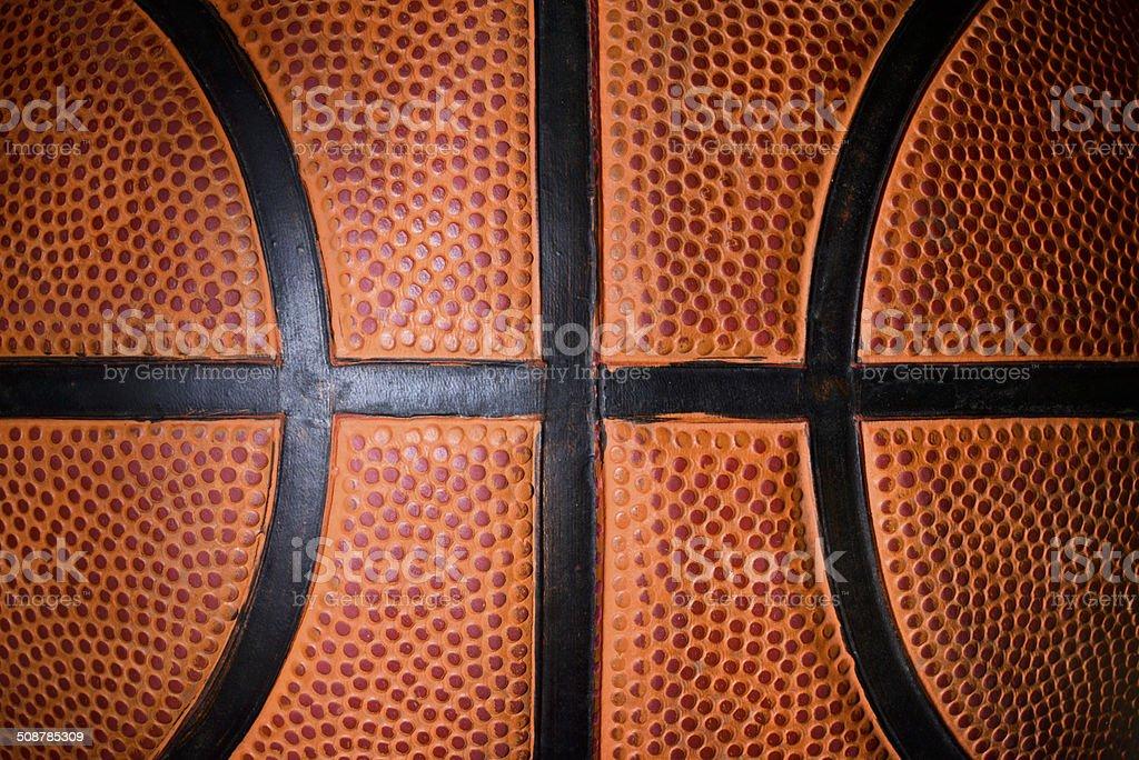 Basketball ball detail stock photo