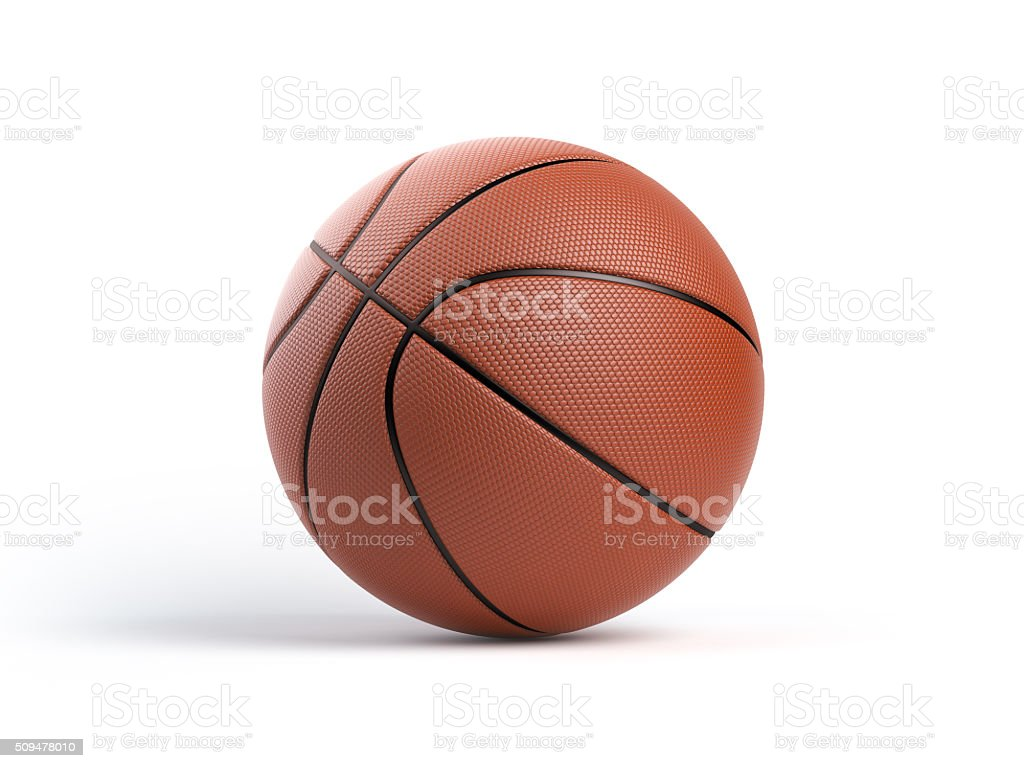 Basketball Ball aislado sobre fondo blanco - foto de stock