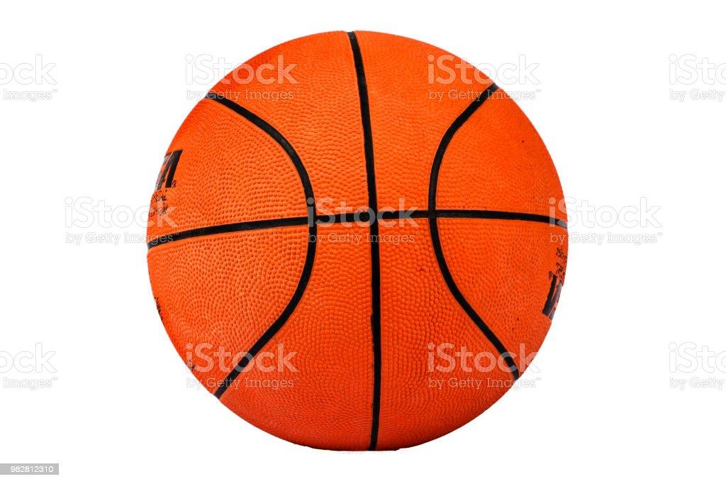 Basketball ball textured isolated on white background. Basketball on a white background. Ball for basketball. stock photo