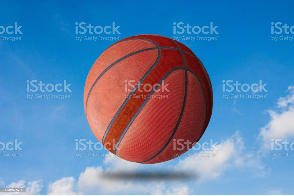 Basketball ball That is separated from the floor of sports clipping...