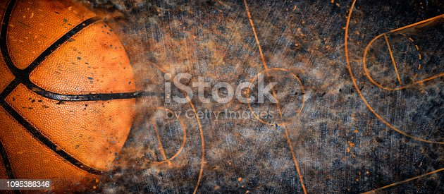 istock Basketball banner background 1095386346