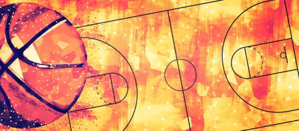 Basketball banner background stock photo