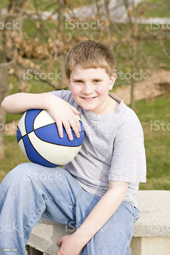 Basketball Boy Portrait royalty-free stock photo