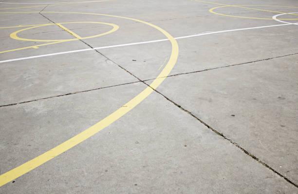 basketball-camp - spielplatz design stock-fotos und bilder