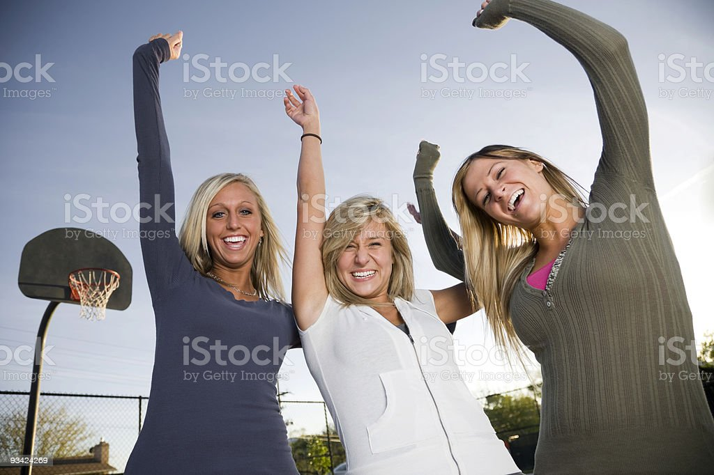 Basketball Cheer Girls royalty-free stock photo
