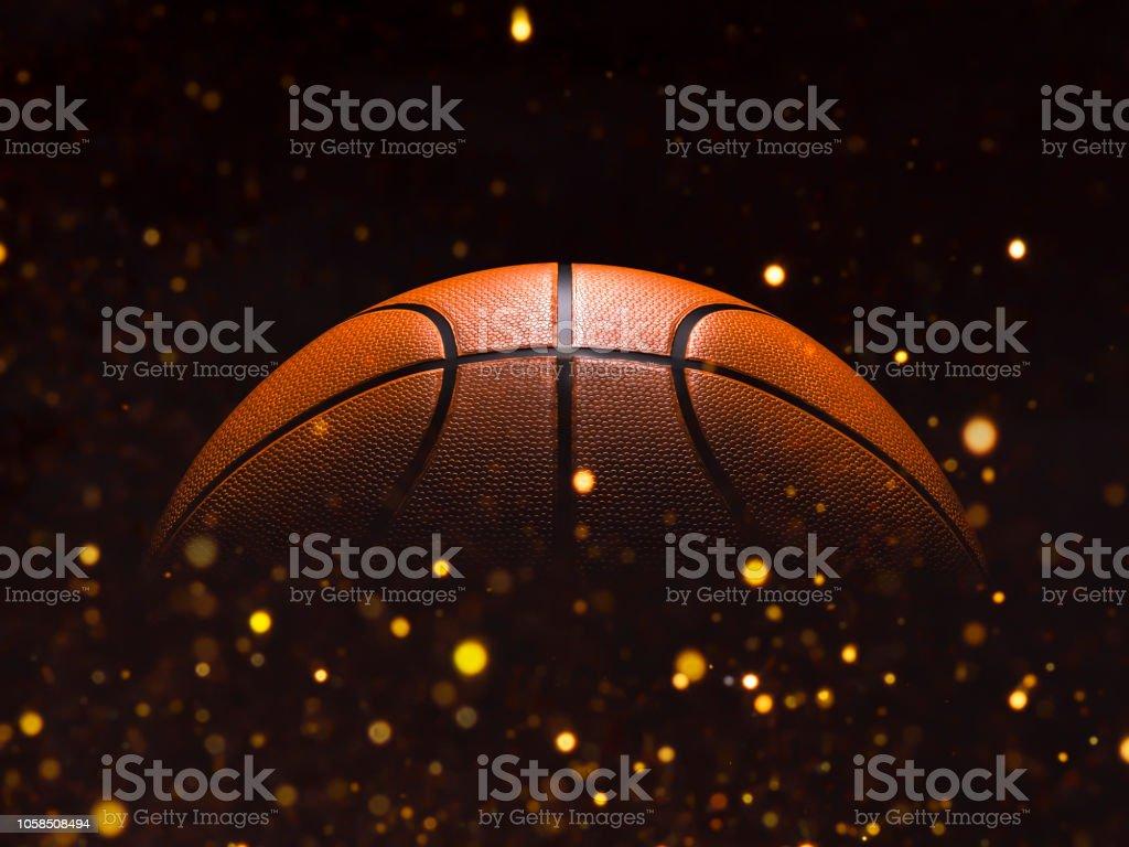 Primer plano de baloncesto sobre fondo de estudio - imagen de Stock foto de stock libre de derechos