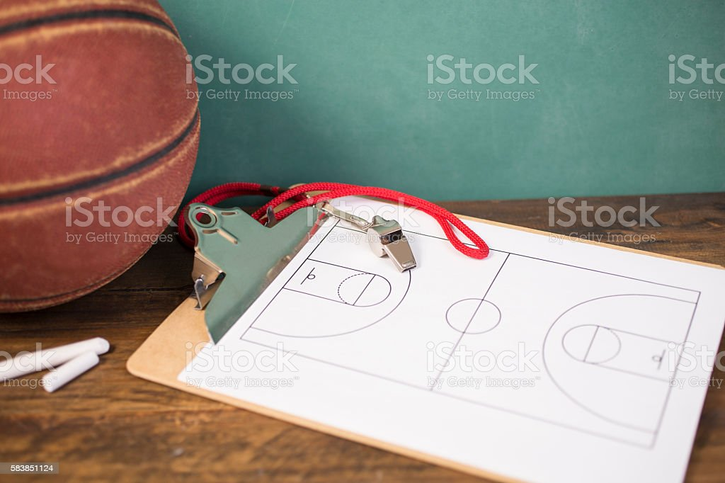 Basketball court diagram drawn by photographer.