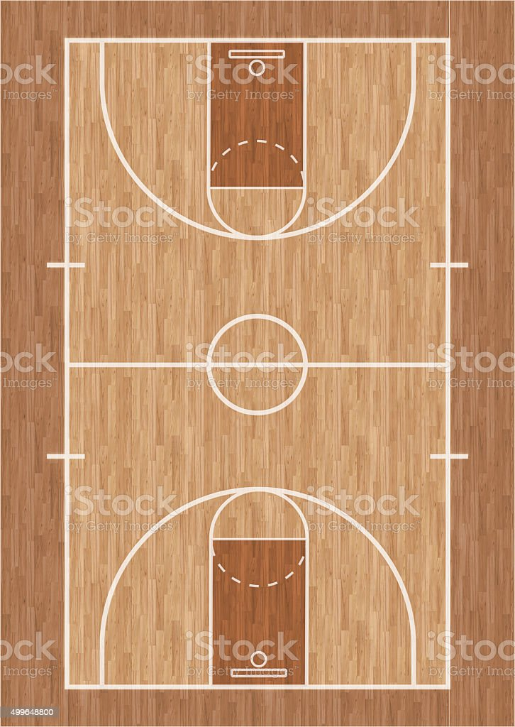Basketball Court Illustration Stock Photo Download Image Now Istock