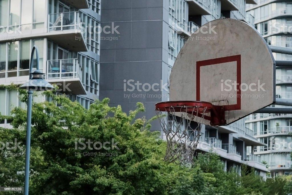 Basketball court in urban area - Royalty-free Asphalt Stock Photo
