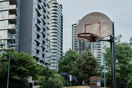 Basketplanen I Stadsområde-foton och fler bilder på Asfalt