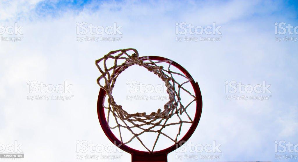 Basketball Court of University stock photo