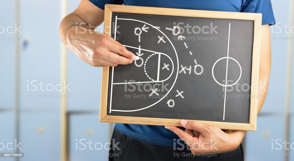 basketball court on board stock photo