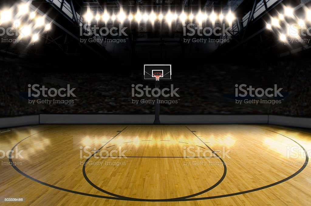 Basketball Court. stock photo