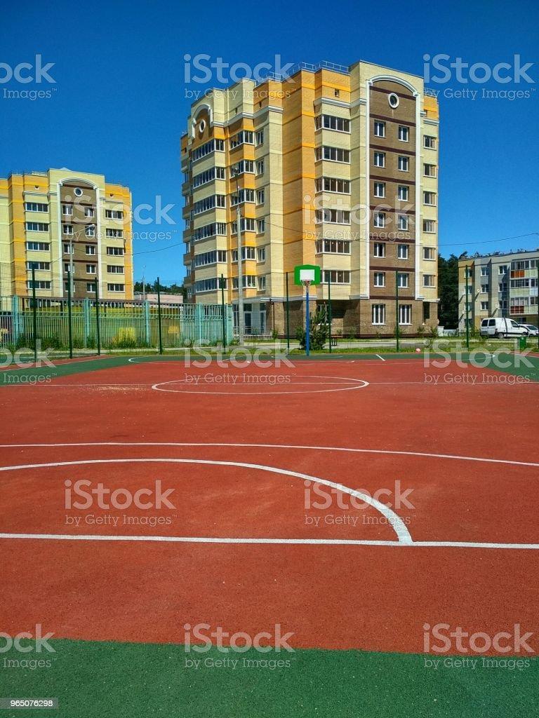 basketball court zbiór zdjęć royalty-free