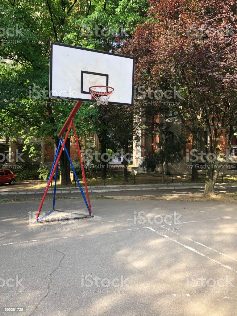 농구 코트 - 로열티 프리 0명 스톡 사진