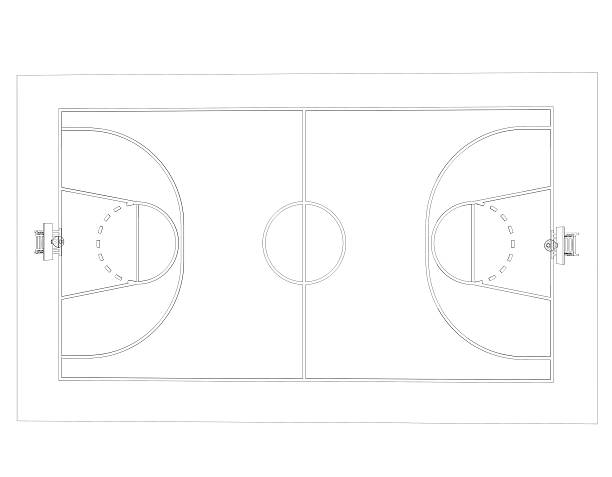 Top 60 Basketball Court Drawing Pictures Stock Photos Pictures And