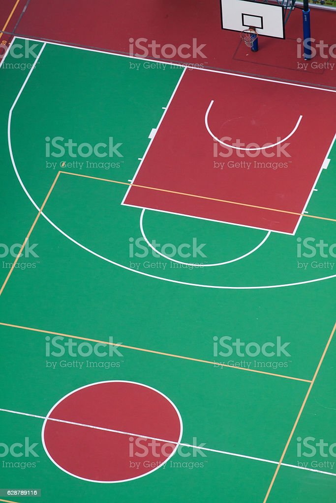 Basketball courts stock photo