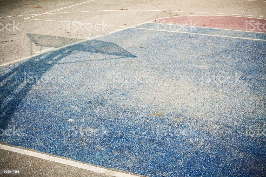 Basketball Courtyard Asphalt stock photo