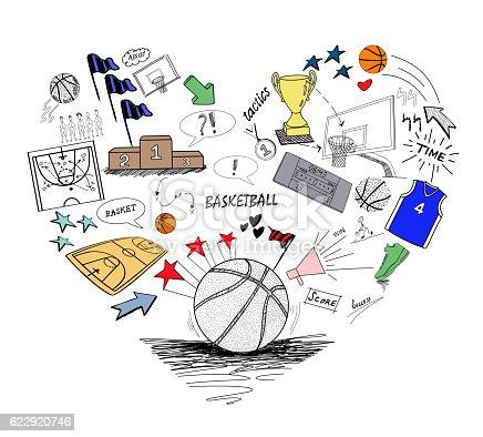 istock Basketball doodle 622920746