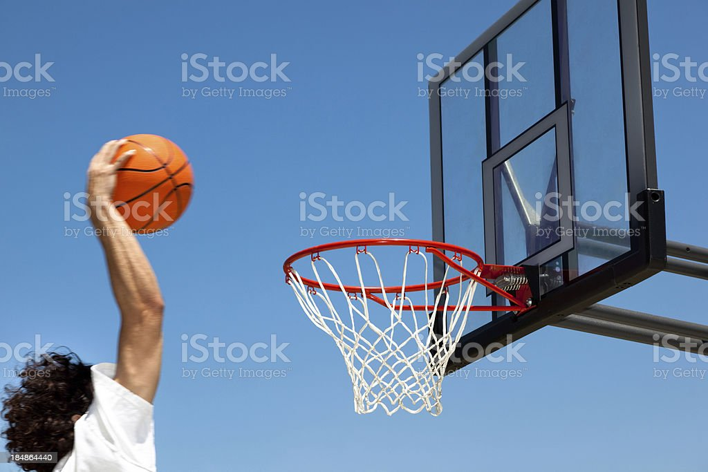 Basketball Dunk royalty-free stock photo