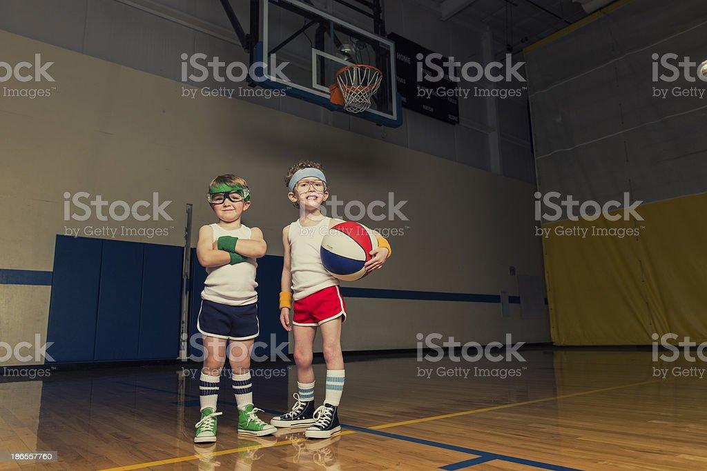 Basketball Duo royalty-free stock photo