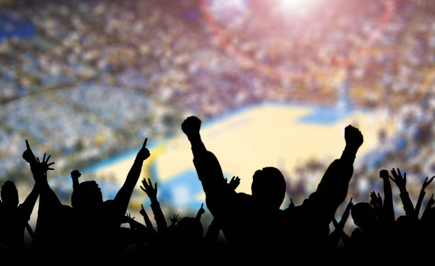 Basketball Fans Excited Basketball fans excited at a game. basketball ball stock pictures, royalty-free photos & images