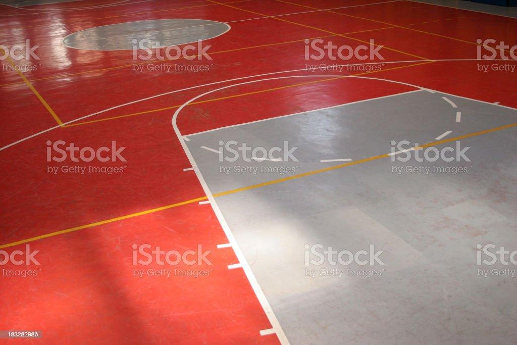 basketball floor royalty-free stock photo