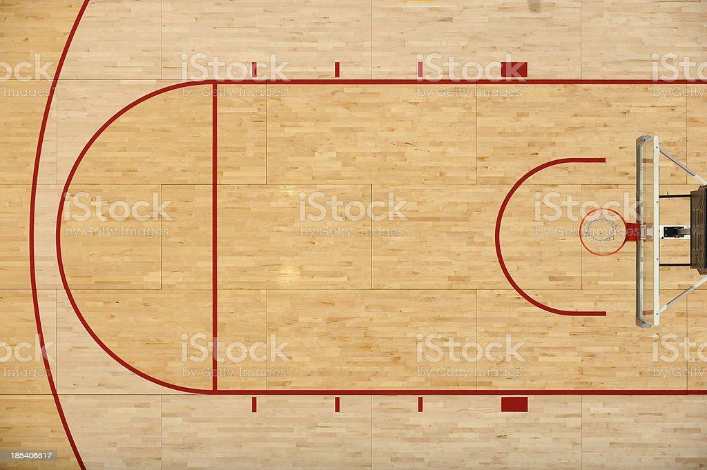 Piso de baloncesto - foto de stock
