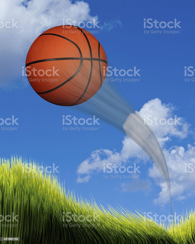 Basketball Flying. royalty-free stock photo