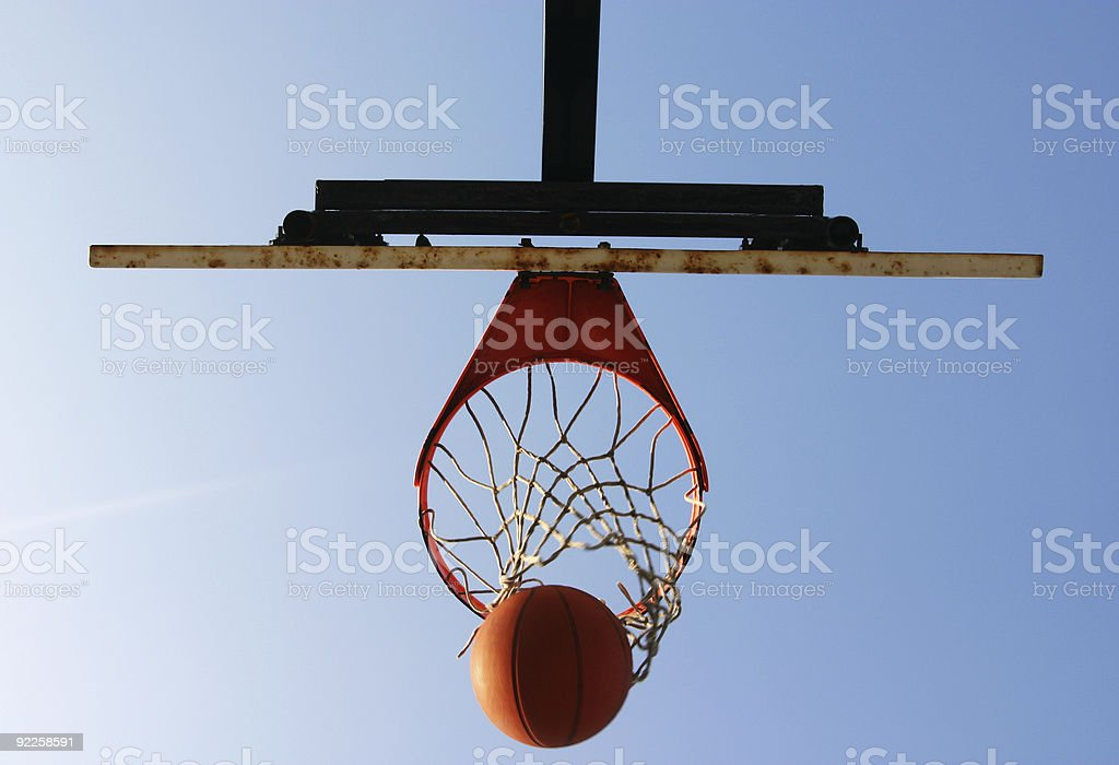 Basketball from the ground up royalty-free stock photo