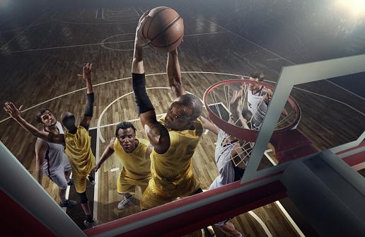 Basketball game moments