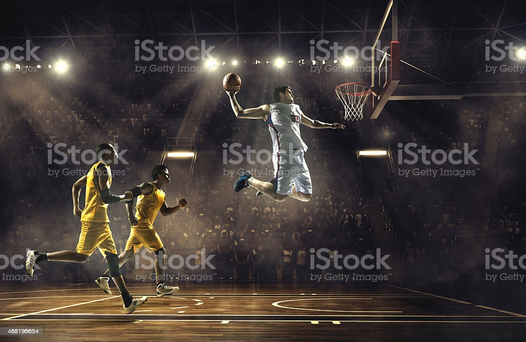 Basketball game stock photo