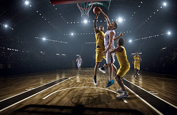 Partita di basket - foto stock