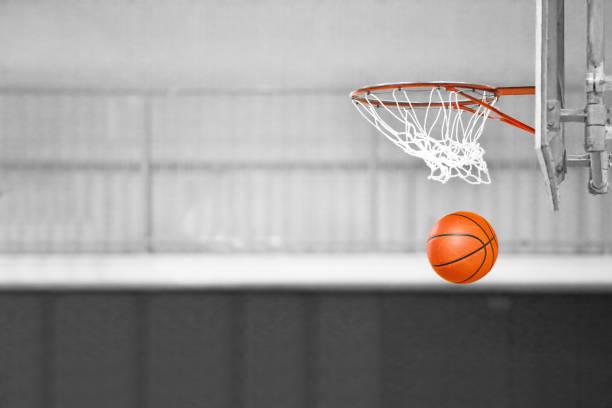 Basketball game stock photo