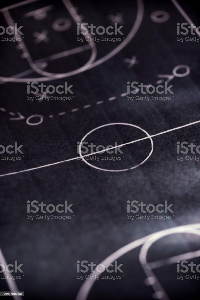 basketball game plan stock photo