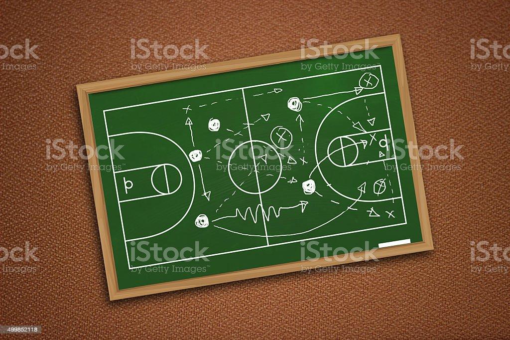 Basketball Game Strategy stock photo