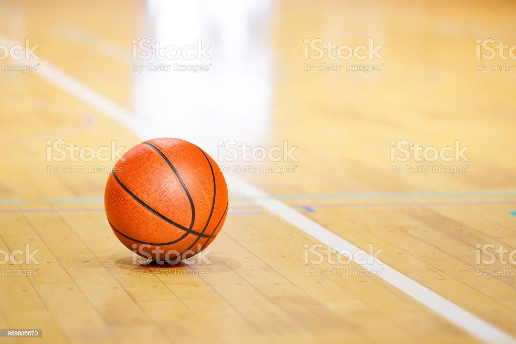 Lugar de juego de baloncesto foto de stock libre de derechos