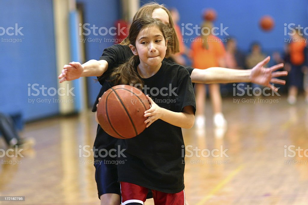 Basketball Girl royalty-free stock photo