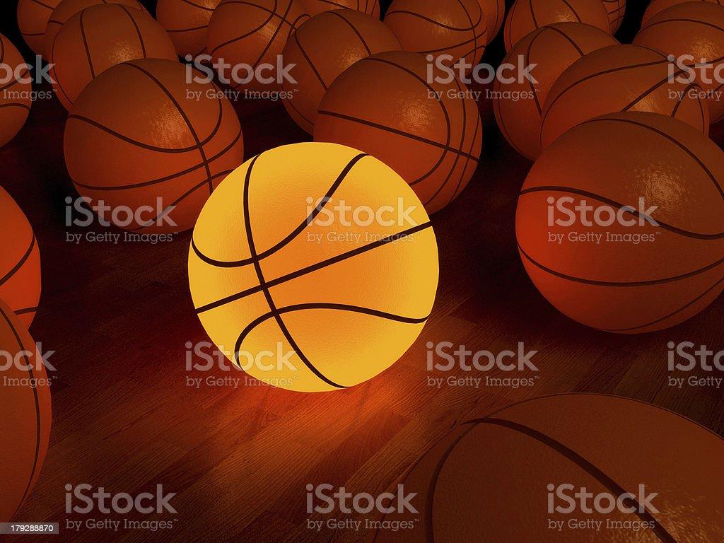 basketball glow ball stock photo