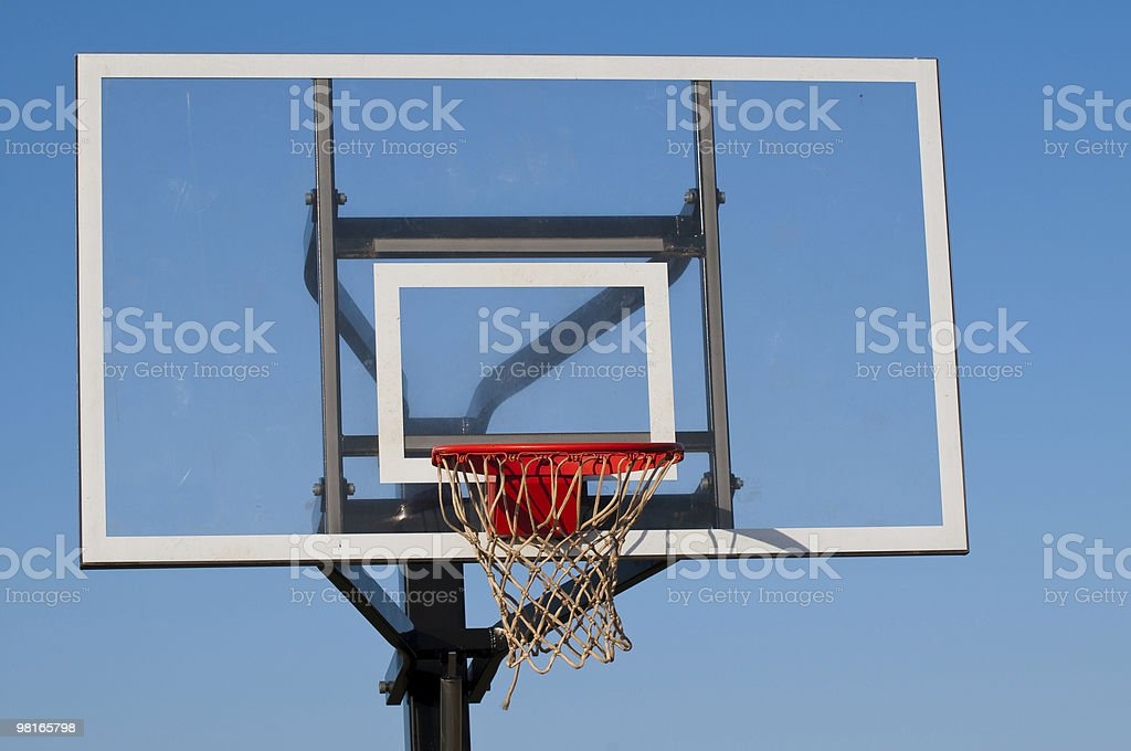 Basketball Goal at a Basketball Court royalty-free stock photo