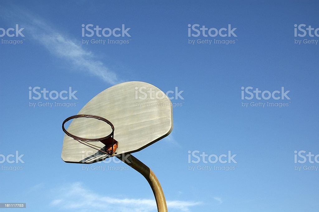 Basketball Goal with Copyspace royalty-free stock photo