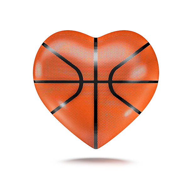 Basketball heart stock photo