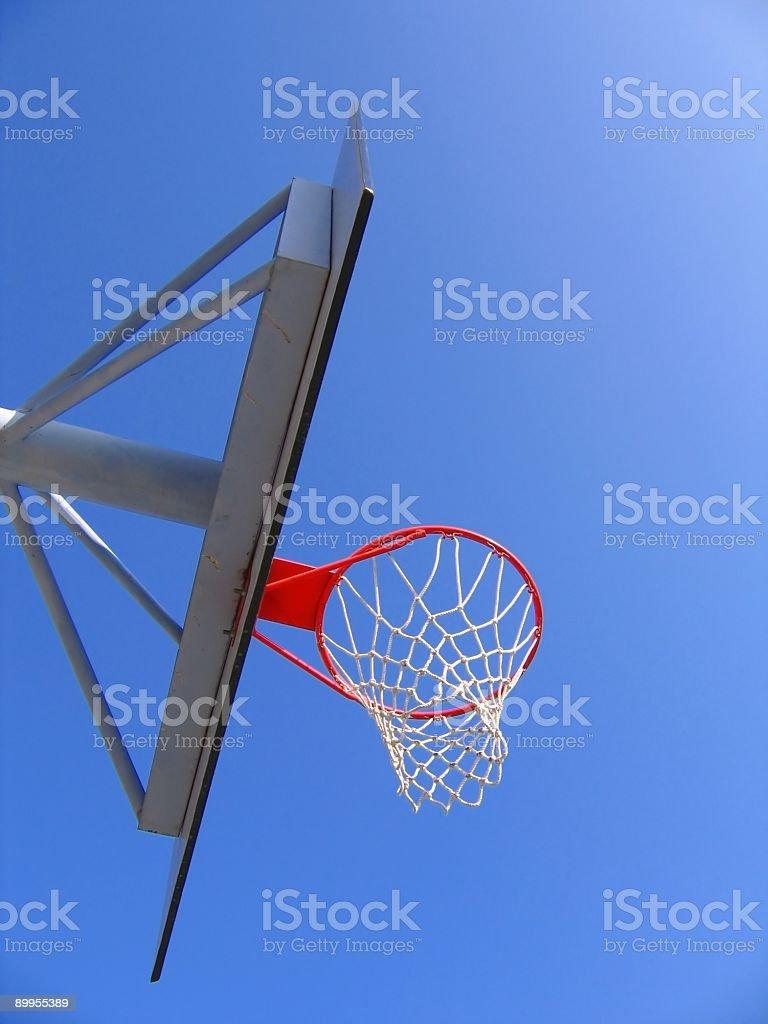 Basketball Hoop and Backboard royalty-free stock photo