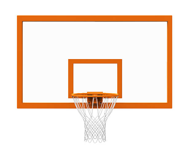 basketball hoop isolated - basketball hoop stock pictures, royalty-free photos & images