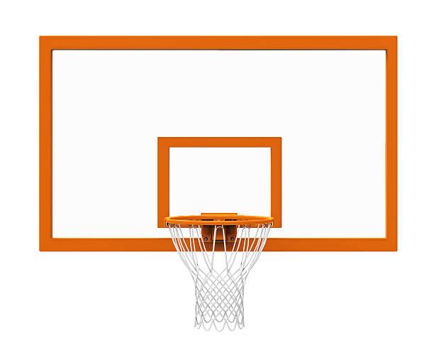 Basketball hoop isolated stock photo